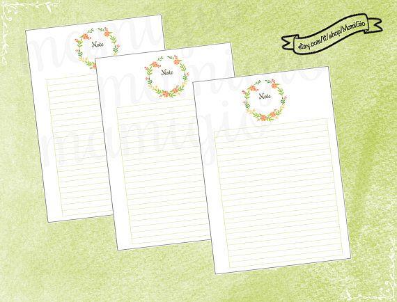Set composto da 6 refill Note, a tema Primavera. By Mamigio on Etsy