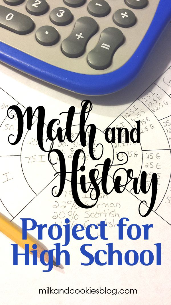 High School Project for Math and History. Every chance I get, I incorporate our family history into my son's lessons. I wholeheartedly believe that family history should be taught in every homeschool. Through the study of genealogy, you can develop and enhance skills such as researching, story-telling, cataloging and documenting, fact-checking, and more.