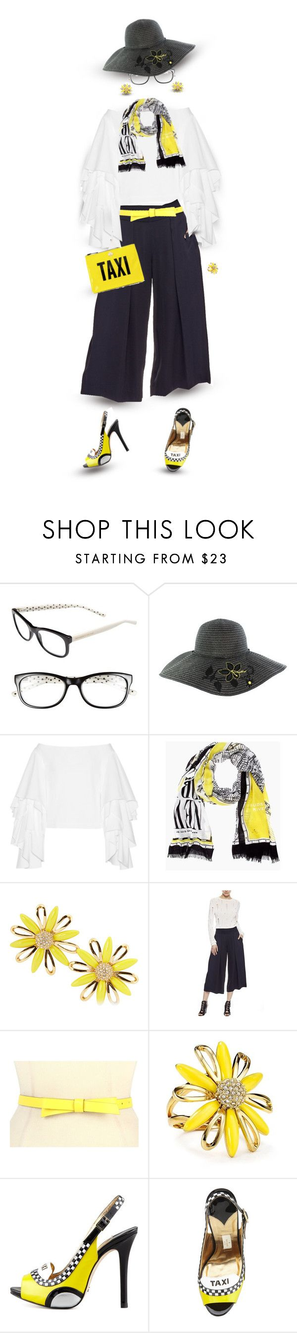 """""""Kate Spade - New York Taxi"""" by dkelley-0711 ❤ liked on Polyvore featuring Kate Spade, Rosie Assoulin, Nicole Miller and katespade"""