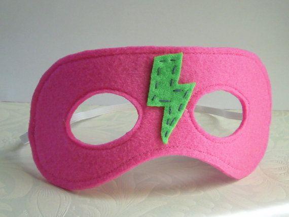 REVERSIBLE Felt Hero Mask Hot Pink by Spitfireshortie on Etsy, $9.00