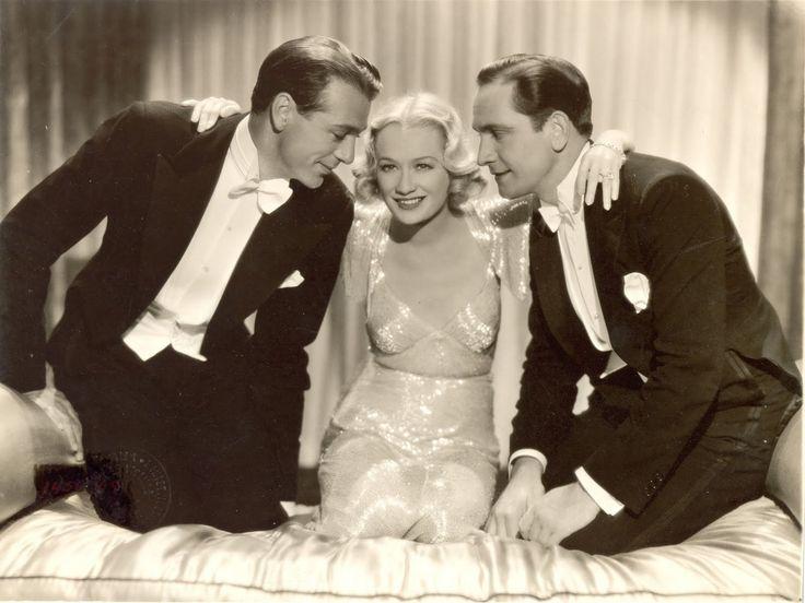 Fredric March, Gary Cooper, Miriam Hopkins, Design for living, 1933