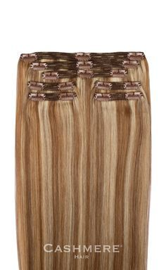 CASHMERE HAIR - Ash Blonde Clip In Hair Extensions, $179.95…