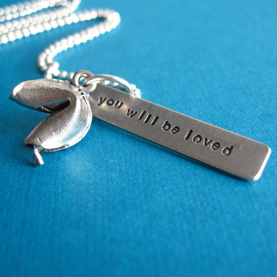 fortune cookie necklace $26