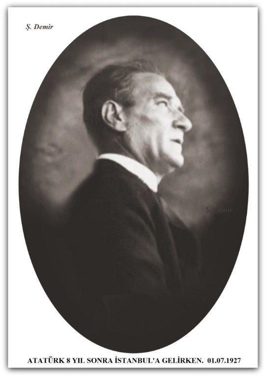 Atatürk 8 yıl sonra İstanbul'a giderken... 01.07.1927