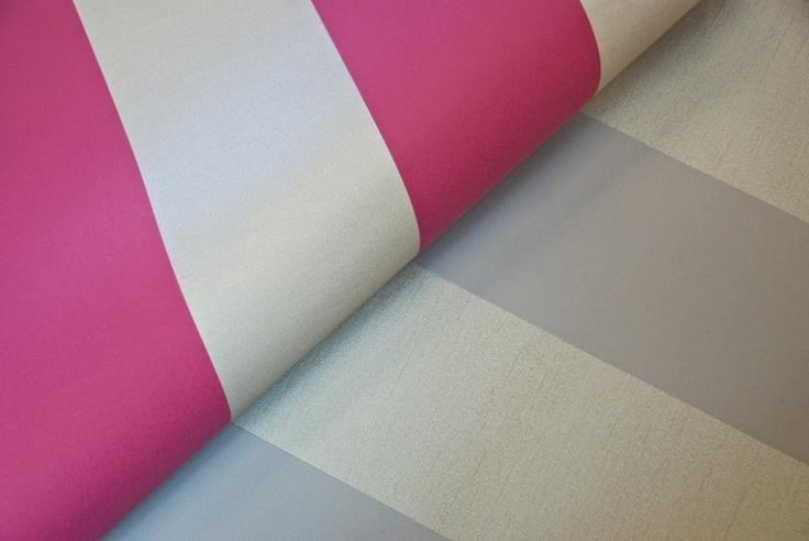 Stripe - A striking simple suede effect stripe on lustrous metallic backgrounds.