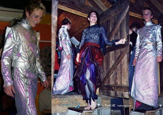 veste et jupe asymétriques costume homme futuriste