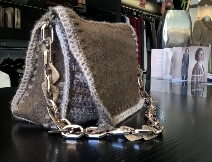 Handbag, Crochet Leather Bag, Tote handbag, Shoulder Bag, Genuine leather Flap Bag, Women's  Bag, Knitting patterns, Knitting bag, Lunch bag by FeMiGR on Etsy