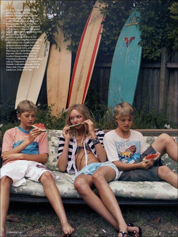 Gemma Ward by Corinne Day for Vogue July 2006Corinne Day, Summer Vacations, Endless Summer, Summer Day, Vintage Summer, Gemma Ward, Watermelon, Surf, Beach Life