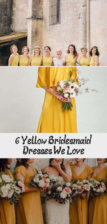 6 Yellow Bridesmaid Dresses We Love - Tremaine Ranch #RedBridesmaidDresses #TealBridesmaidDresses #BridesmaidDressesLong #BridesmaidDressesLace #BridesmaidDressesBoho