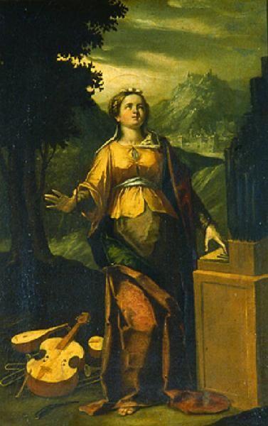 c. 1630—Italian artist Ortensio Crespi's St. Cecilia - pinterest