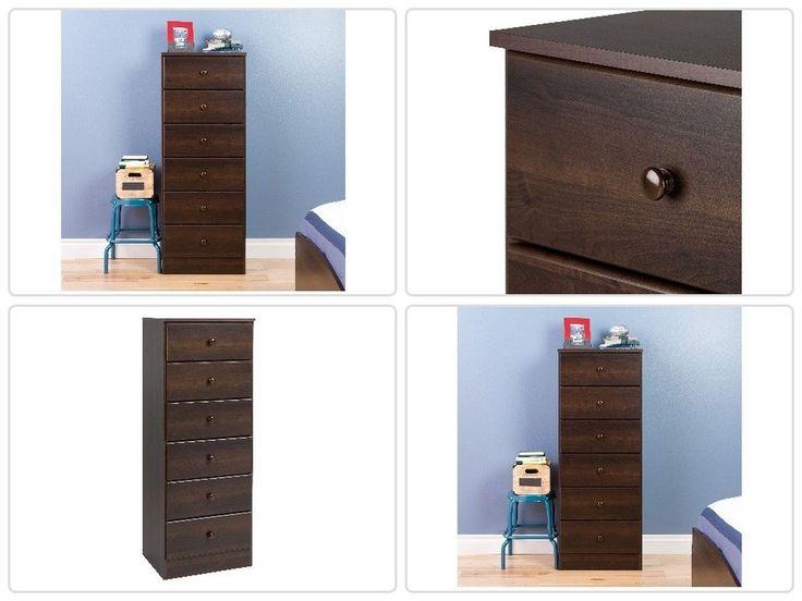 #Bedroom #Espresso 6 #Drawer #Tall #Dresser #Chest #Organizer 6 #Drawers Storage Hom