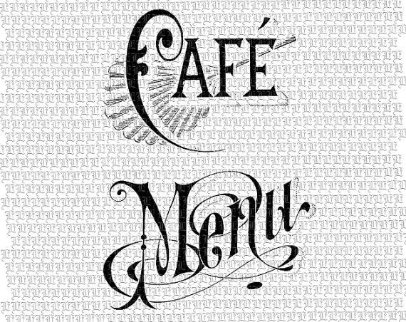 Victorian Clipart French Coffee Shop Digital by luminariumgraphics, $3.25
