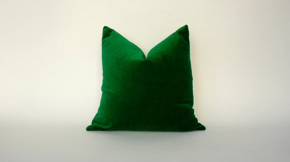 ** PLEASE have a read through my shop policies before purchase to be sure on production and shipping times. Thank you!   Beautiful velvet pillow case in emerald green ( Infill not included )  A wonderful addition to your living room, bedroom or office    More lumbar / rectangle sizes here :  https://www.etsy.com/listing/219609233/emerald-green-rectangle-pillow-kelly?ref=shop_home_active_18   Medium weight cotton velvet - 240 gsm   Invisible zipper closure  Machine wash cold  Steam iron…
