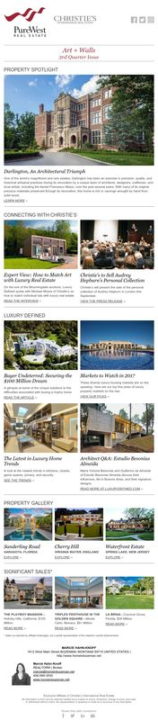 Art + Walls, Quarterly eNewsletter (July-August-September) 2017. Luxury Real Estate brought to you by Marcie Hahn-Knoff REALTOR® | Broker, PureWest Christie's International Real Estate homeinbozeman.com