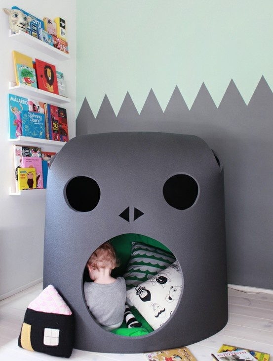 Cave and mounted bookspace: For Kids, Kidsroom, Room Ideas, Space, Boy, Kids Rooms