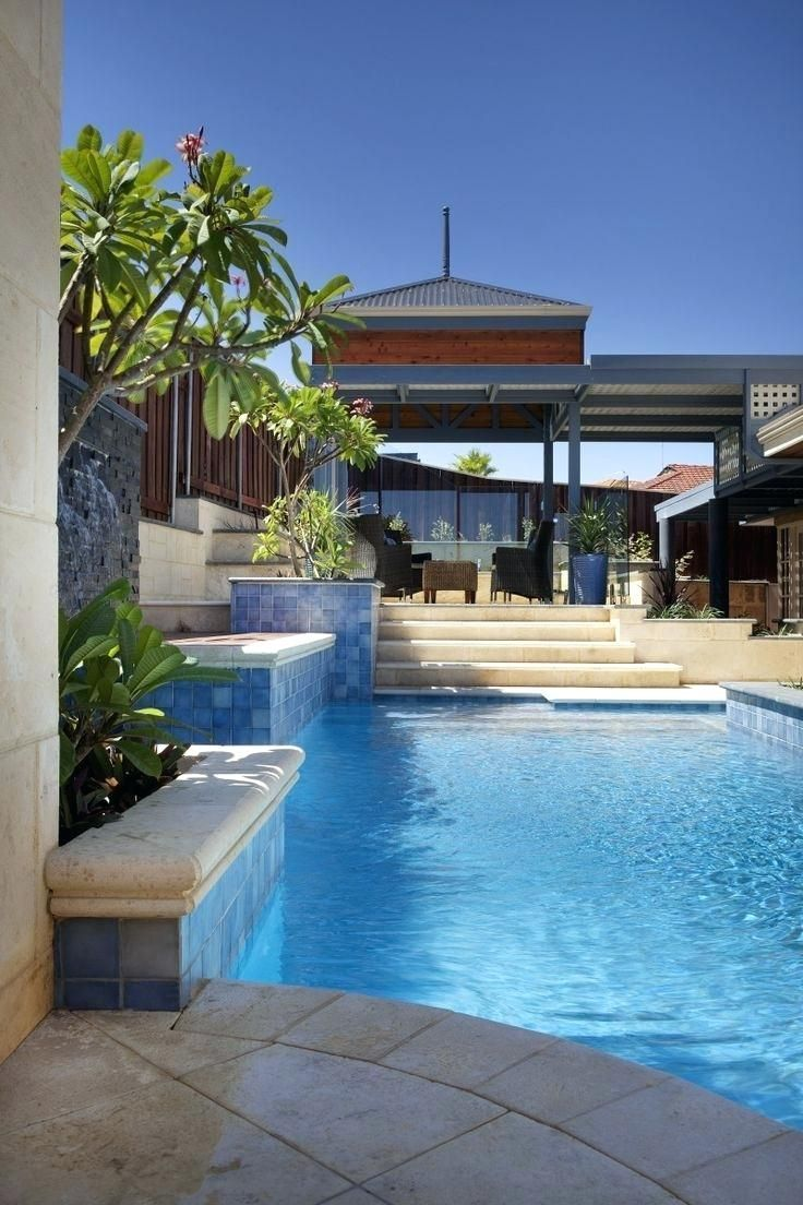 Easy And Simple Landscaping Ideas And Garden Designs Drawing Cheap Pool Landscaping Ideas For Backyard Front Y Swimming Pools Backyard Backyard Backyard Pool
