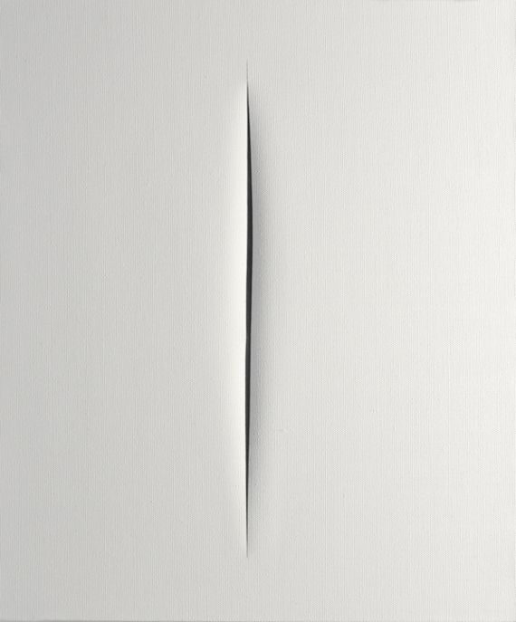 "Lucio Fontana, Concept spatial, ""Attesa"" (Attente), 1964-65"
