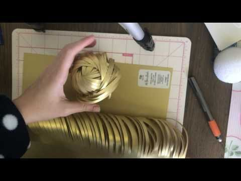 Swirly CENTER for Paper Flower - YouTube
