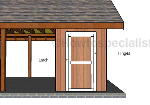 Single Carport With Storage Roof Plans Howtospecialist How To Build Step By Step Diy Plans In 2020 Carport With Storage Diy Carport Carport Plans