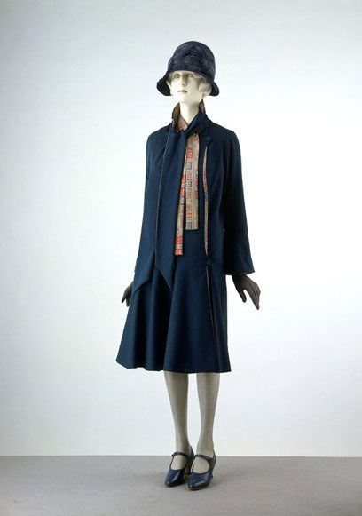 Blue dress casual 1920s
