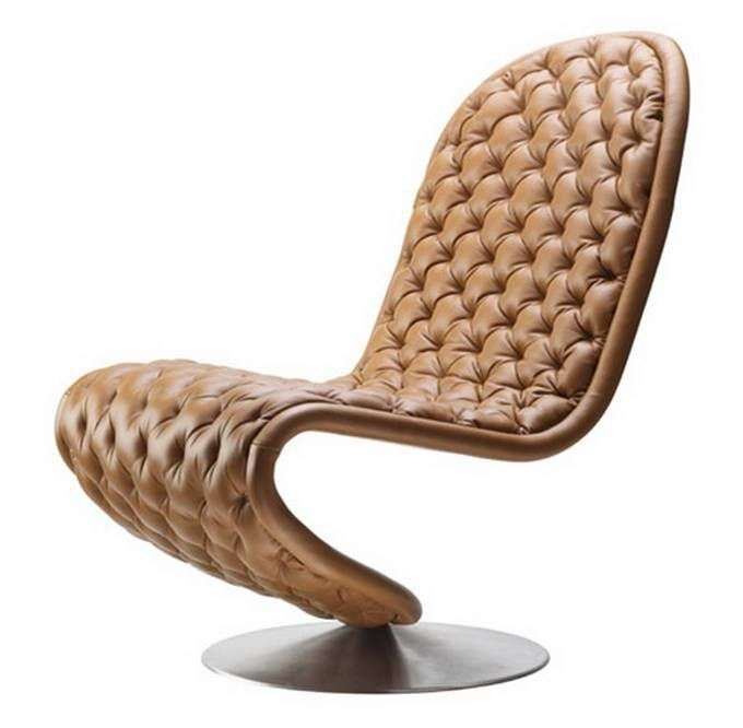 Verner Panton Chair, In A Peachy Taupe. So Iconic, So Sculptural, So