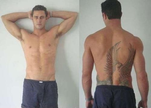 This MIGHT make me consider watching Chicago Fire on NBC ... on mute. Taylor Kinney (Lady Gaga's BF)