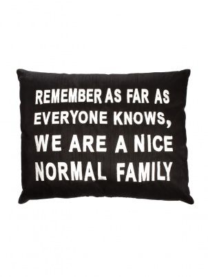 Nice, Normal Family Embroidered Pillow by Moyna - ShopKitson.com