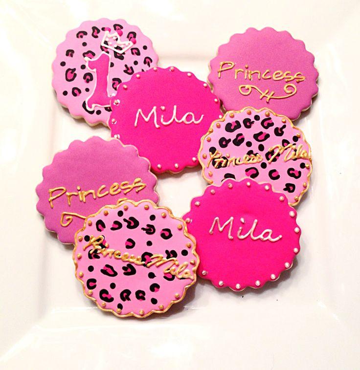 Custom Girls First Birthday Cookies @sugarlovecookiesdesigns FB sugar love cookie designs