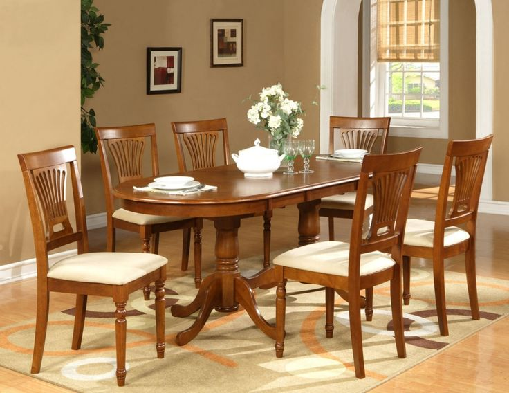 Oval Dining Room Sets For 6