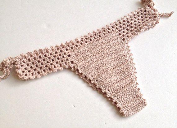 Powder Pink Women Swimwear Crochet Bikini Top by senoAccessory