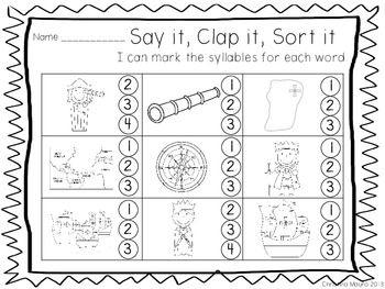 SAY IT, CLAP IT, SORT IT - Syllable sort Columbus FREEBIE