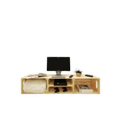 Meuble TV 2S2H - Kit prêt à assembler - caisses en bois (x4) - Fabriquée main en France - Achat / Vente boite de rangement - Cdiscount