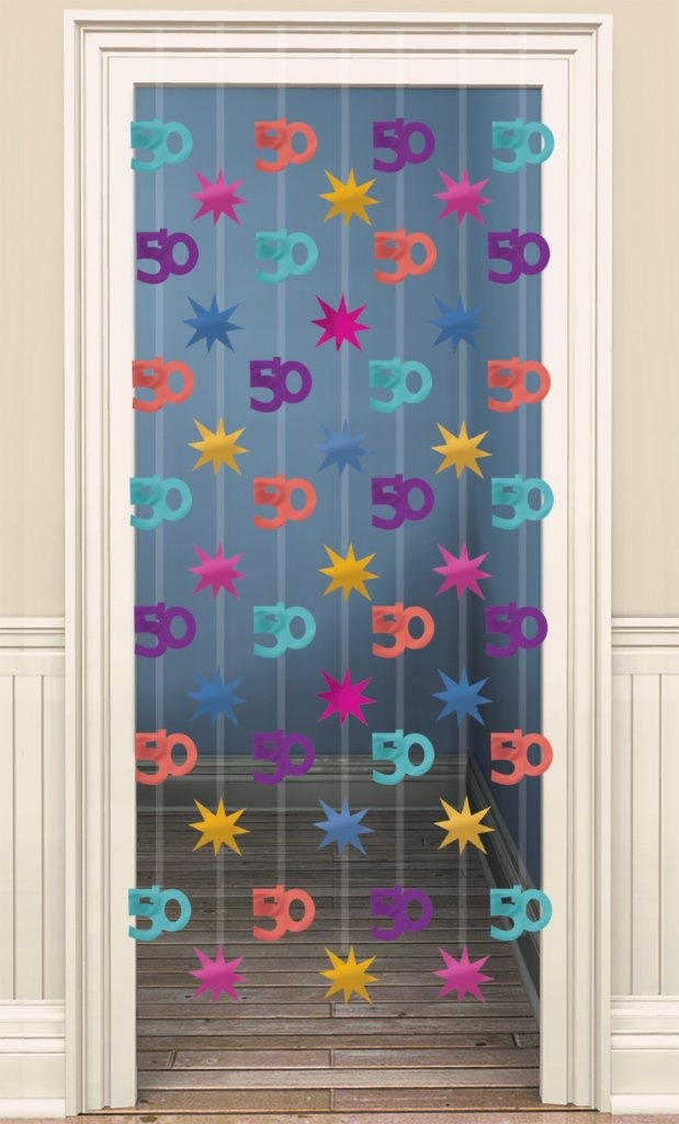 50th birthday foil door curtain decoration party kiosk for 50th birthday decoration ideas