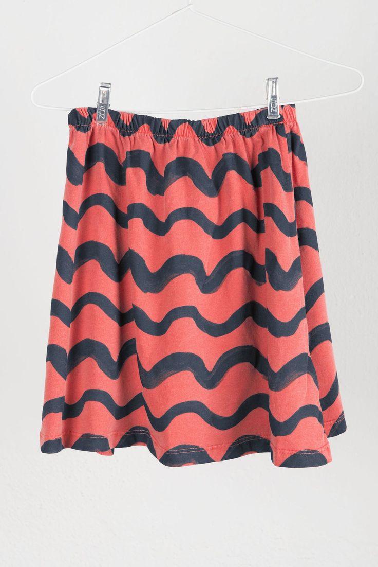 Bobo Choses Skirt: Waves