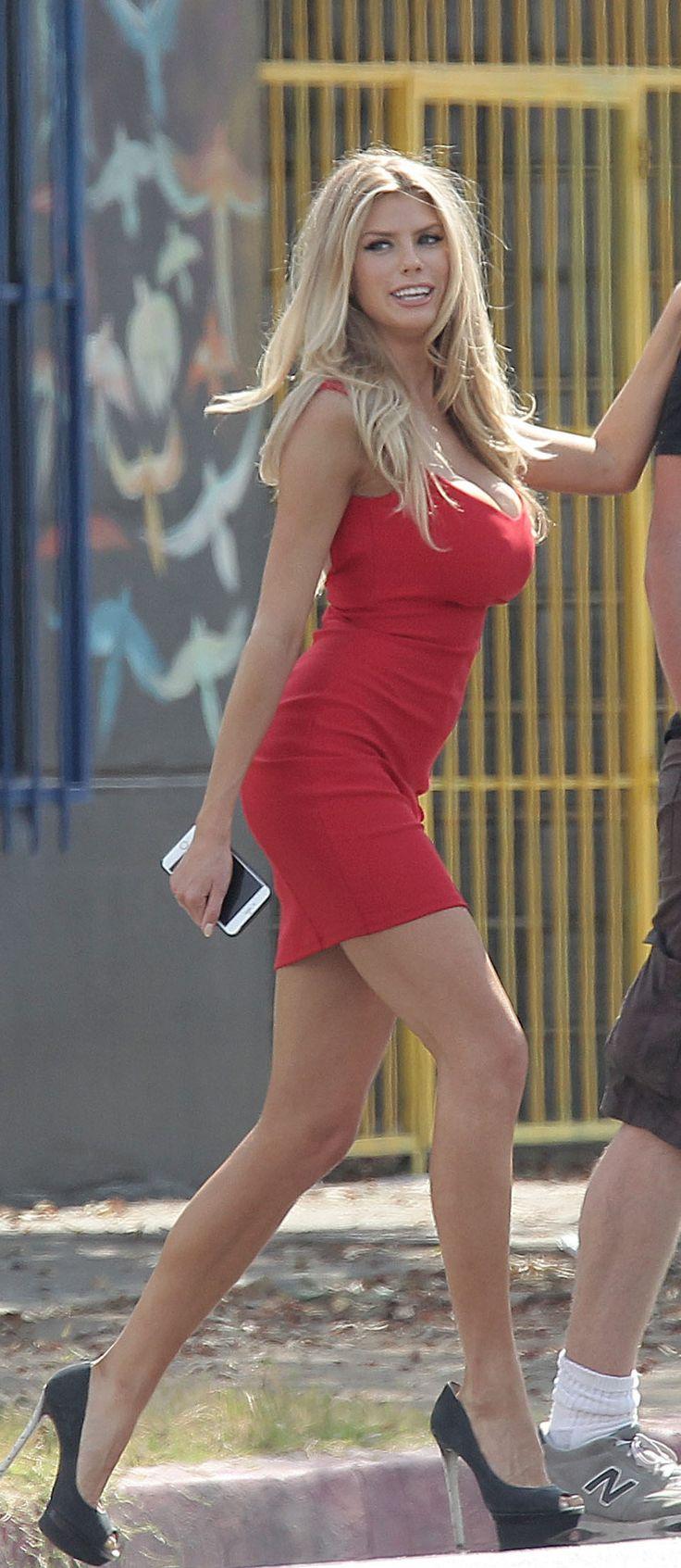 Charlotte McKinney red dress
