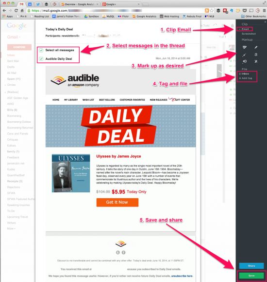 Quick Tip: Clipping Email with the Evernote Web Clipper