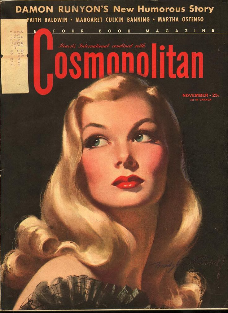 Cosmopolitan magazine, NOVEMBER 1941 Model: Veronica Lake Artist: Bradshaw Crandell