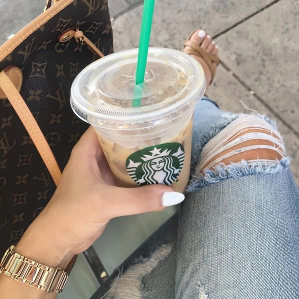 Iced Latte From Starbucks With Soy Milk And Sugar Free