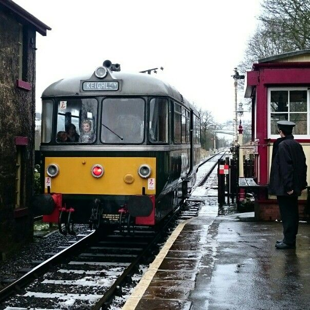 A child's excitement at Damems Station on the KWVR