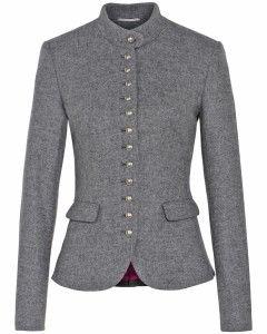 Traditional patterns, materials, and cuts are back in style big time in the German speaking countries. http://www.gorara.com/tradition-ist-in-und-das-dirndl-ist-chic/ Trachten-Jacke mit Schleifendetail
