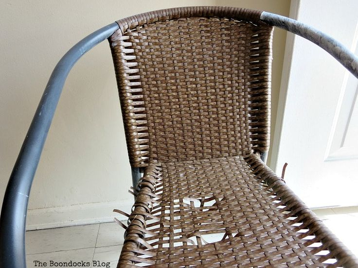 How to Re-purpose a Torn Rattan Chair   Chair, Rattan ...