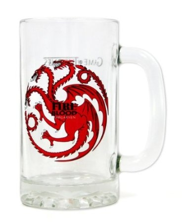 Game of Thrones Beer Mug Glass Fire and Blood
