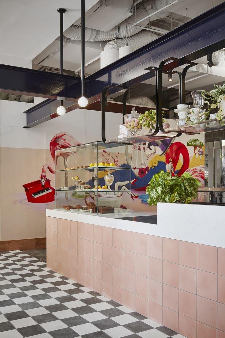 Green styling by Glasshaus Nursery Design Florist for Fancy Nance, Adriano Zumbo's new  high tea salon in South Yarra