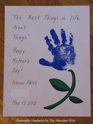 Handprint and Footprint Arts  Crafts: 14 Handprint Flower Crafts for Mothers Day Round Up #4
