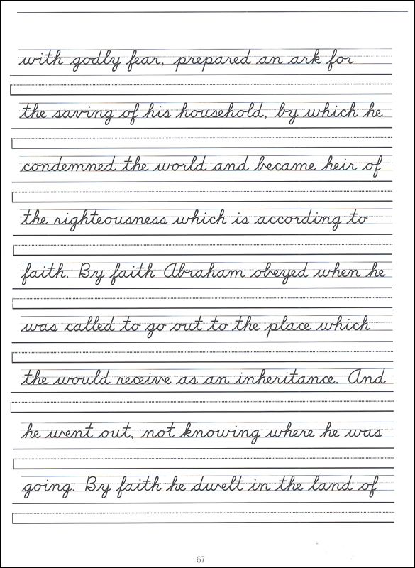 Scripture Character Writing Worksheets D Nealian Advanced