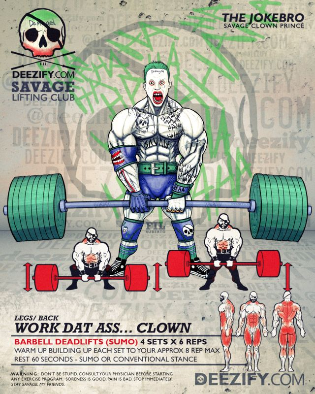 full body exercises: sumo deadlifts with joker