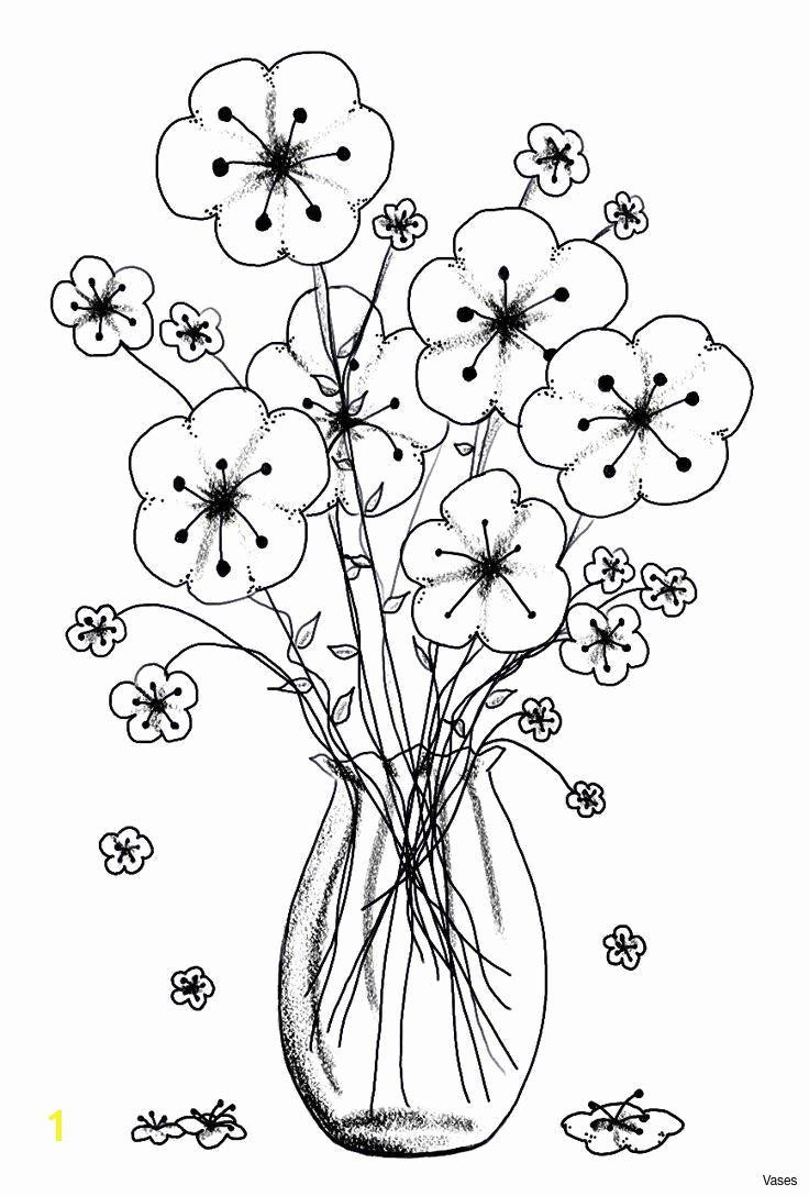 Coloring Pages Flowers In A Vase Inspirational 16 Ideal Flower Vase Marbles Pola Sulam Bunga Bordir Sketsa