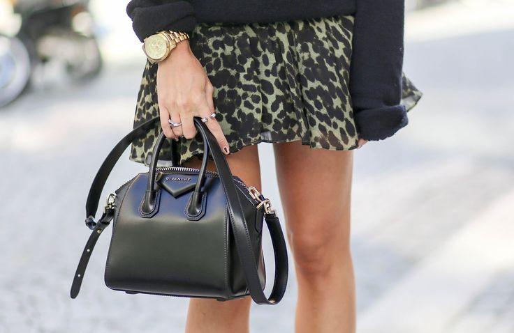 "Blogger Linn Seljeset from ""Fashion Junkie"" | Sweater (Isabel Marant). Skirt (Isabel Marant). Bag (Givenchy)."