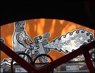 Samuel Indratma  Indonesia.     Part of a Mural in Jogjakarta, 2002