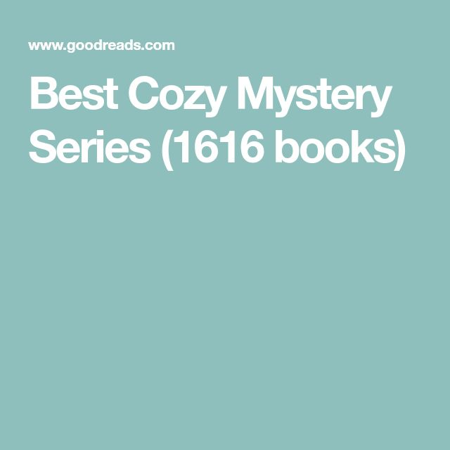 Best Cozy Mystery Series (1616 books)
